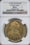 1773M PJ Spain 8E MS 61 NGC | William Youngerman