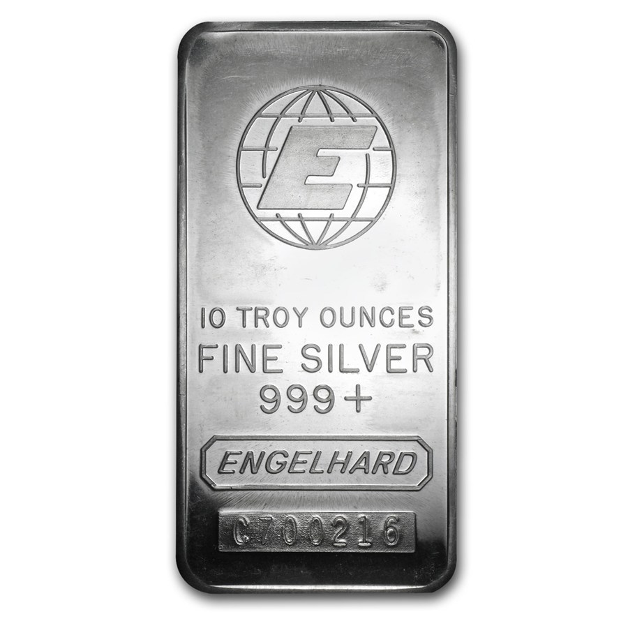 Engelhard Silver 10 oz. Bars | William Youngerman