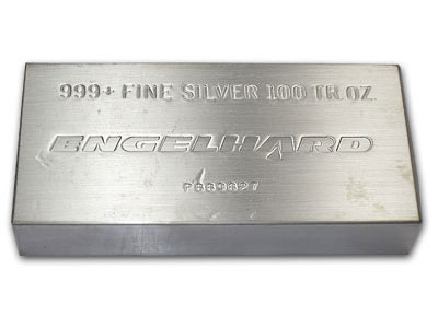 Engelhard Silver 100 oz. Bars | William Youngerman