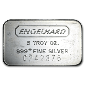 Engelhard Silver 5 oz. Bars | William Youngerman