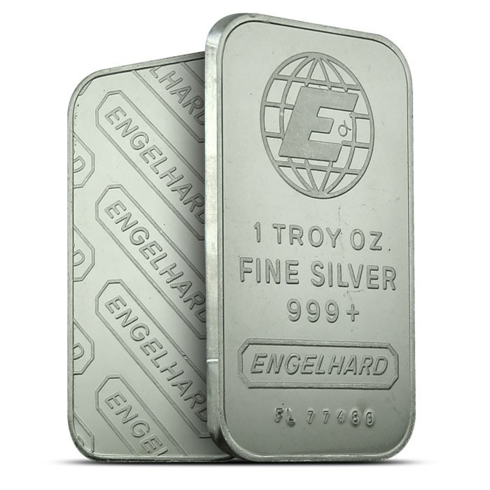 Engelhard Silver 1 oz. Bars | William Youngerman