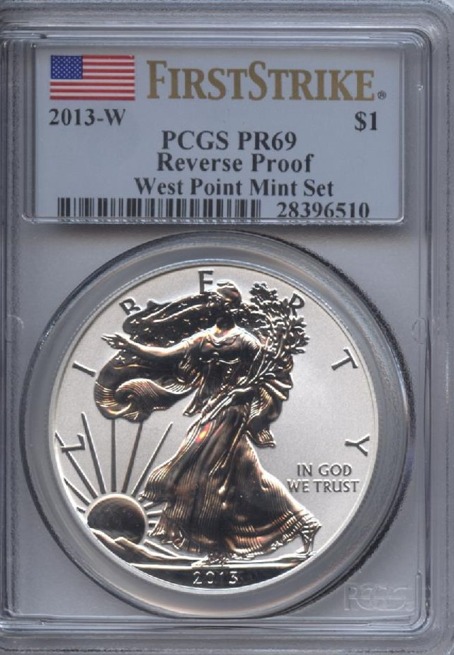 2013-W Silver Eagle PR 69 Reverse Proof PCGS