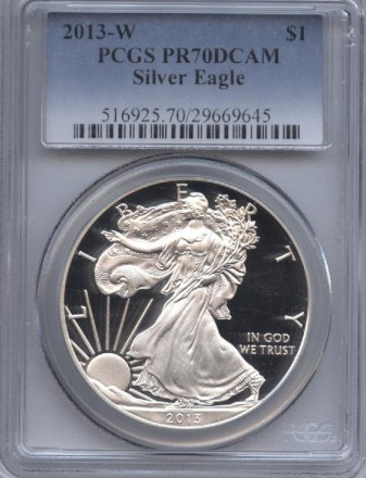 2013-W Silver Eagle PR 70 DCAM PCGS | William Youngerman