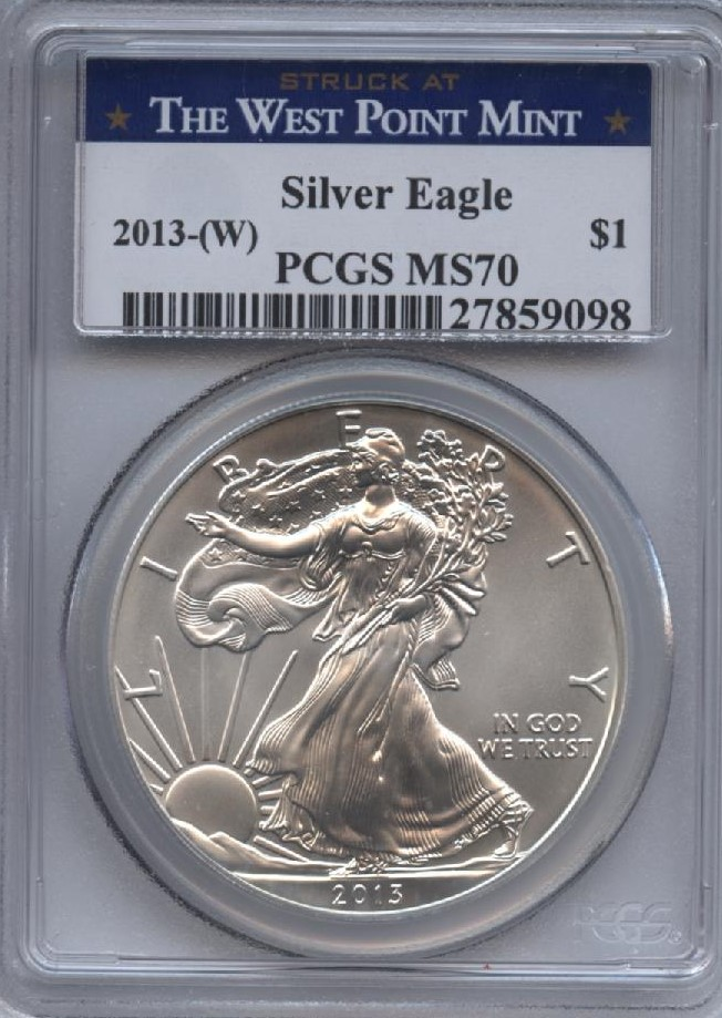 2013-W Silver Eagle MS 70 PCGS | William Youngerman