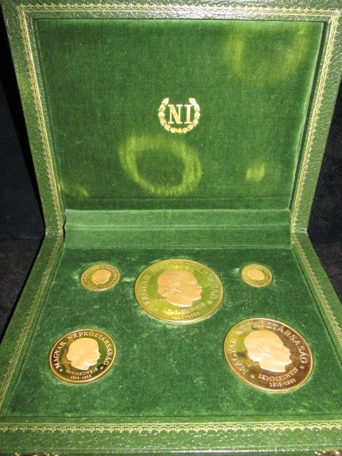 1968 Hungary 5 pc. Gold Proof Set | William Youngerman