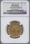 1847-O Gold $10 No Motto N.O. Mint AU | William Youngerman