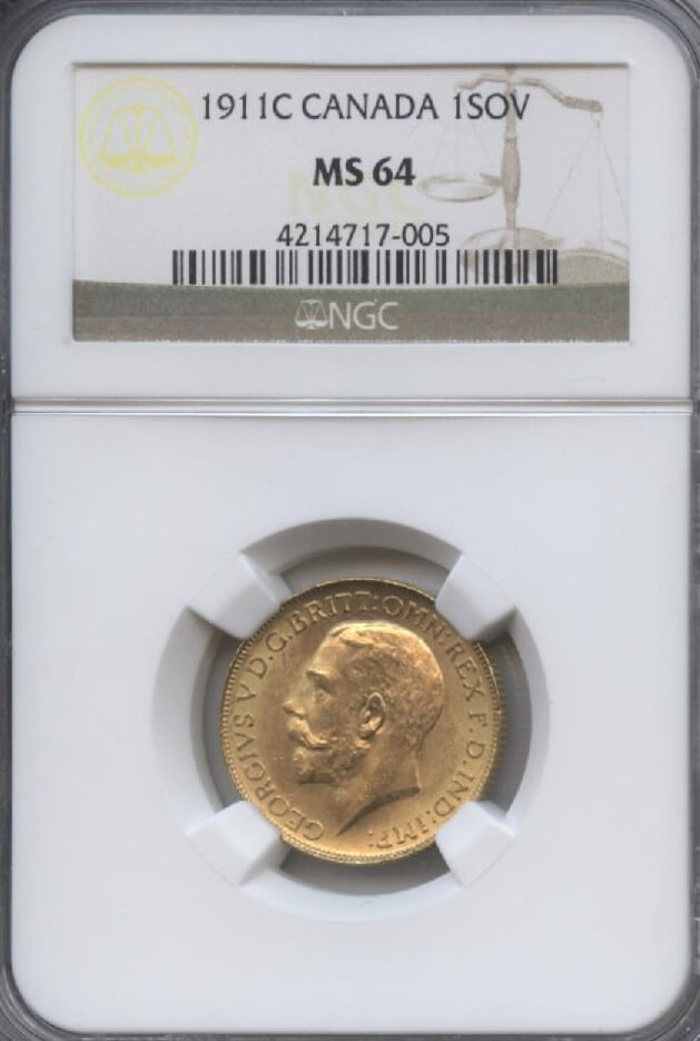 1911C Canada 1Sov NGC MS 64 | William Youngerman