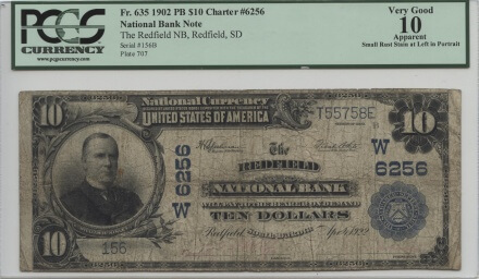 Redfield, South Dakota 1902 PB $10 | William Youngerman