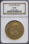 1754 JD Peru 8 Escudo | William Youngerman