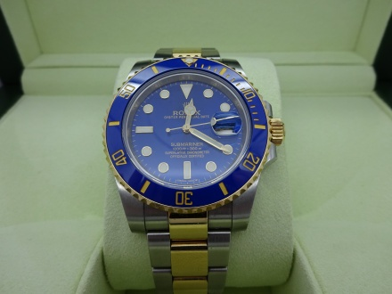 Rolex Submariner SS/18K Blue Face | William Youngerman