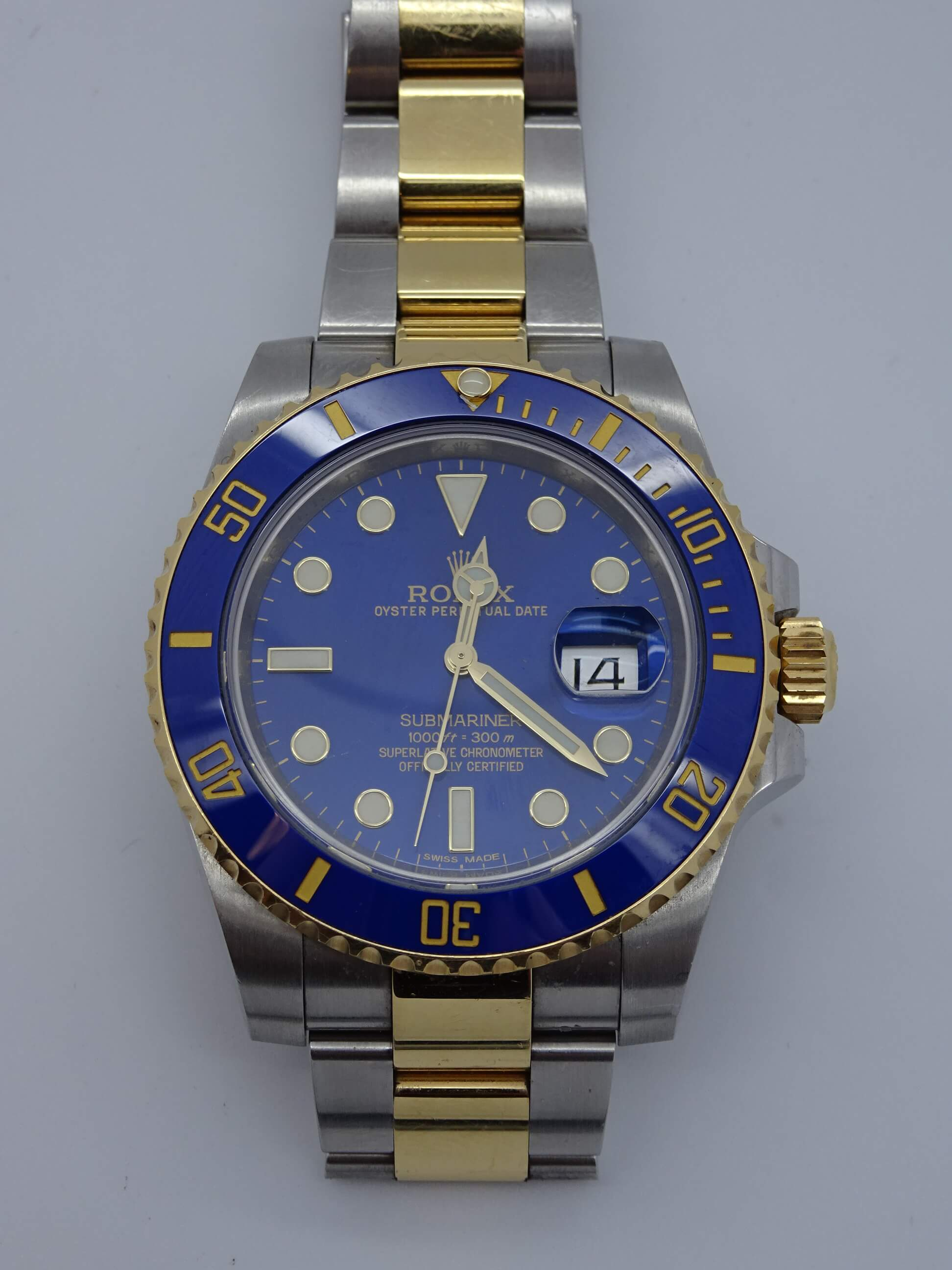 Rolex Submariner Ss 18k Blue Face William Youngerman