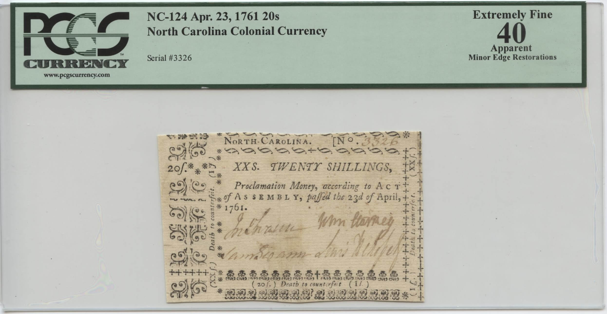 Old North Carolina Money | William Youngerman
