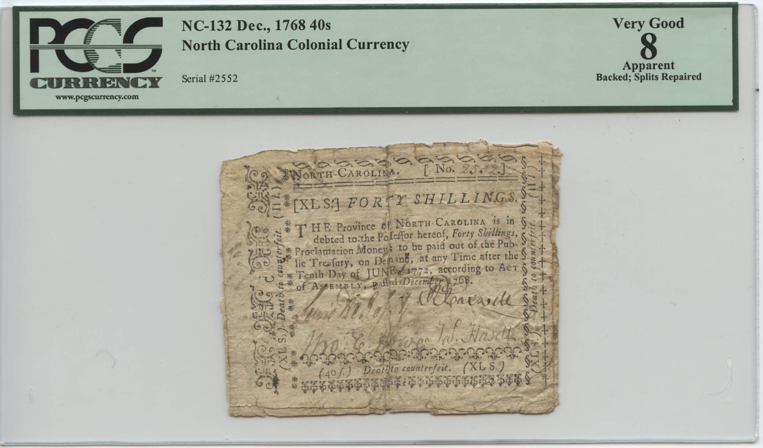Old North Carolina Currency | William Youngerman