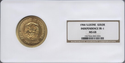 Sierra Leone Coins | William Youngerman | gold rare